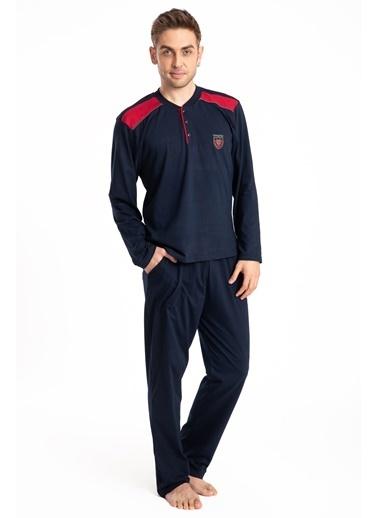 Pemilo Erkek 645 Cepli Uzun Kol Yazlık Pijama Takımı SİYAH Lacivert